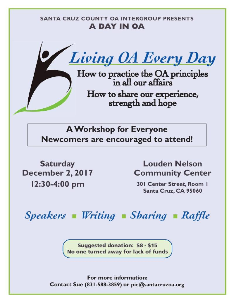 A Day In OA Flyer