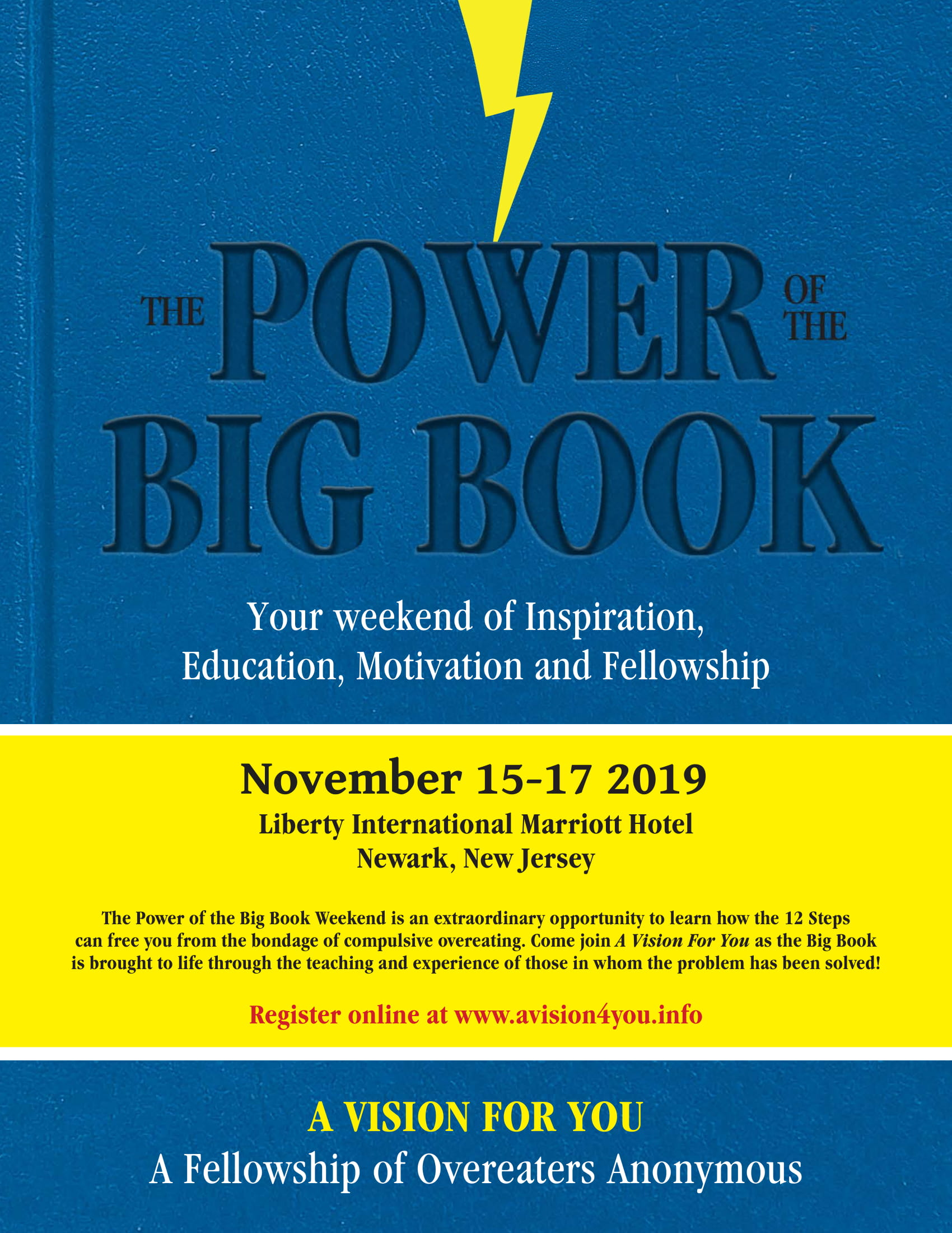 2019 The Power of the Big Book flyer